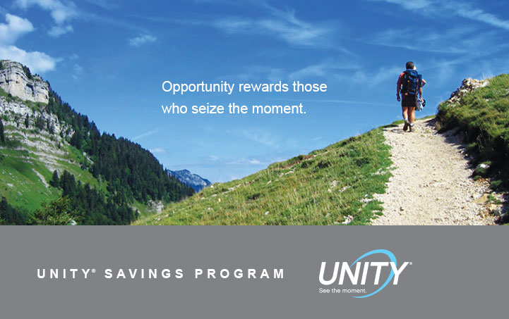 Now you have two ways to earn with Unity Savings.
